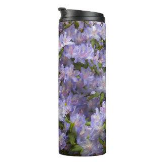 Termo El rododendro púrpura florece floral