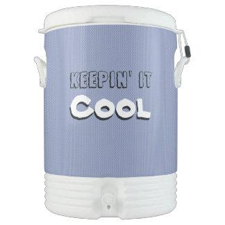 Termo Guardándolo el hielo fresco bebe el dispensador/el