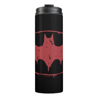 Termo Logotipo de exudación del palo rojo de Batman el |