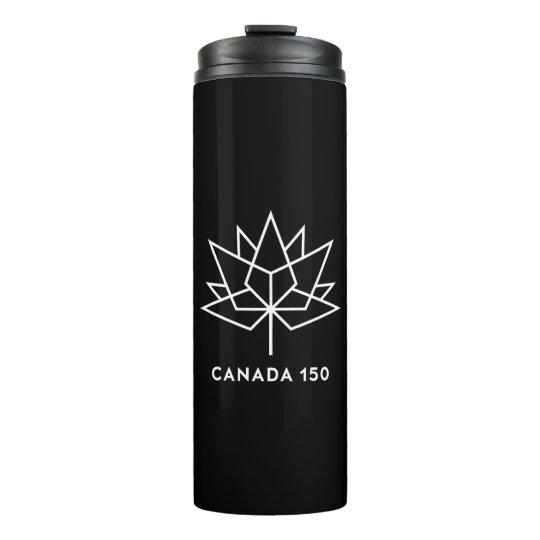 Termo Logotipo del funcionario de Canadá 150 - blanco y