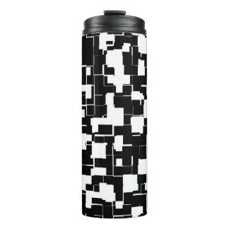 Termo Modelo de moda blanco y negro fresco