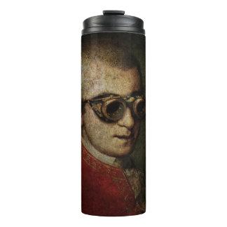 Termo Steampunk Wolfgang Amadeus Mozart en las gafas de