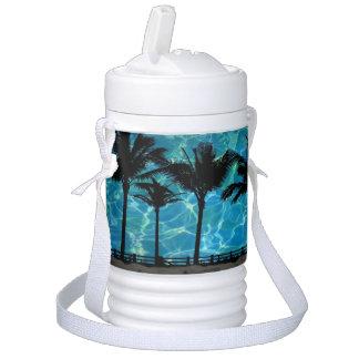 Termo Vaso refrigerador tropical de las palmeras del