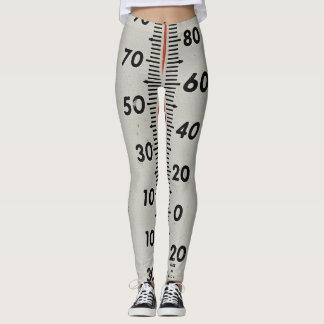 termómetro del vintage leggings