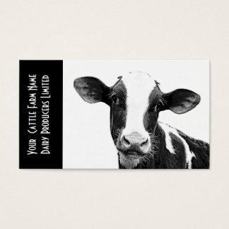 Ternera de Holstein o becerro joven de la lechería Tarjeta De Negocios