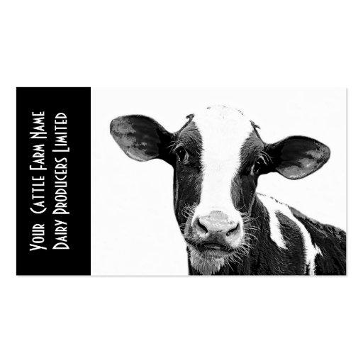 Ternera de Holstein o becerro joven de la lechería Tarjeta De Negocio