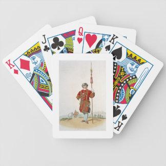 Terrateniente de Guard del rey, del 'traje de gran Baraja Cartas De Poker