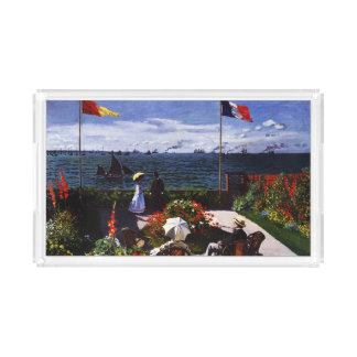 Terraza de Claude Monet-The en Sainte-Adresse Bandeja Acrílica