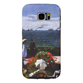 Terraza de Claude Monet-The en Sainte-Adresse Funda Samsung Galaxy S6