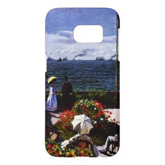 Terraza de Claude Monet-The en Sainte-Adresse Funda Samsung Galaxy S7