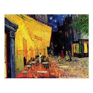 Terraza del café de la noche de Van Gogh en el Postal