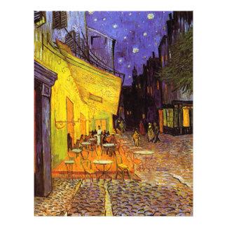 Terraza del café de Vincent van Gogh en la bella Folleto 21,6 X 28 Cm