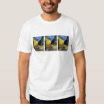 Terraza del café en la noche de Van Gogh Camiseta