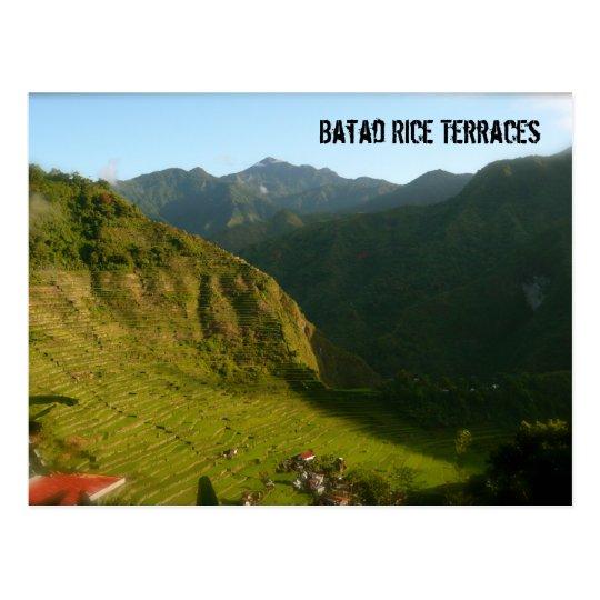 Terrazas del arroz de Batad Postal
