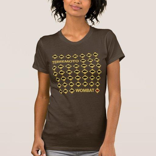 Terremoto Wombat Camisetas