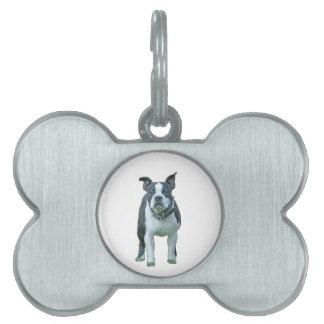 Terrier 1b de Boston Placa Para Mascotas