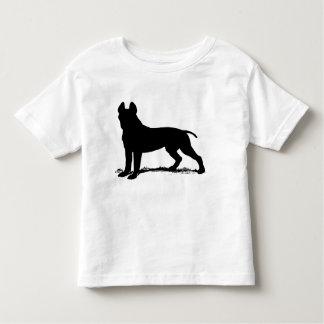 terrier de pitbull camiseta de bebé