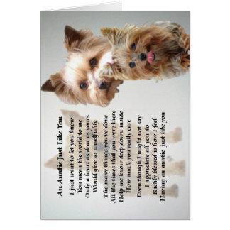 Terrier de tía Poem - de Yorkshire Felicitaciones