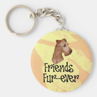 "Terrier irlandesa ""Friends fur ever "" Llavero Redondo Tipo Chapa"
