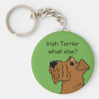 Terrier irlandesas - ¿else what? llavero redondo tipo chapa