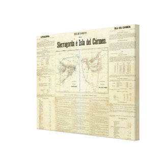 Territorios de Sierragorda e Isla del Carmen Impresión En Lienzo