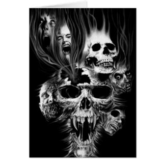 Terror de Halloween - Tarjeta