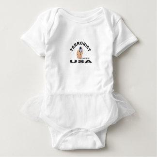 terrorista en los E.E.U.U. Body Para Bebé