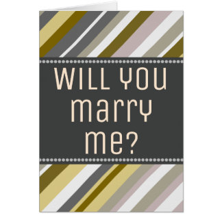 "Terroso, rústico ""usted me casará?"" Tarjeta"