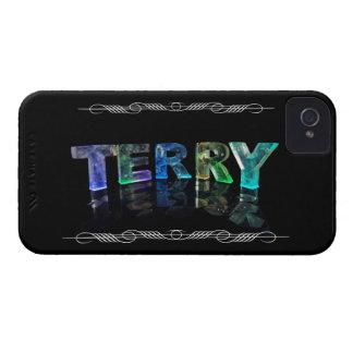 Terry conocido - nombre en las luces fotografía iPhone 4 Case-Mate cárcasa