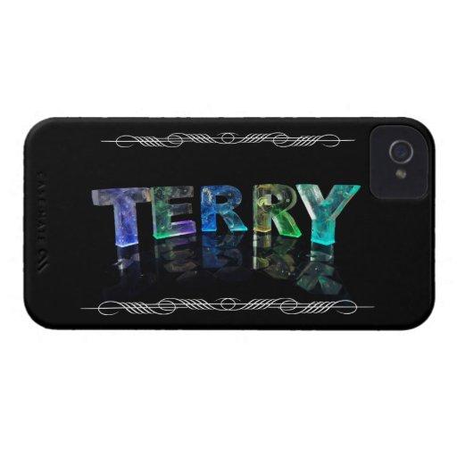 Terry conocido - nombre en las luces (fotografía) iPhone 4 Case-Mate cárcasa