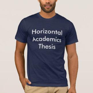 Tesis horizontal del académico camiseta