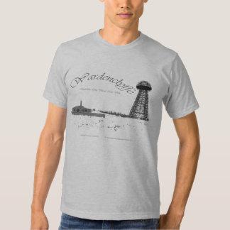 Tesla-Radio Pwer de Wardenclyffe-Nikola Camiseta