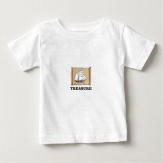 tesoro en los altos mares camiseta de bebé