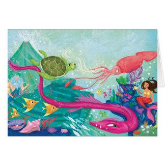 Tesoros ocultados del océano tarjeta de felicitación