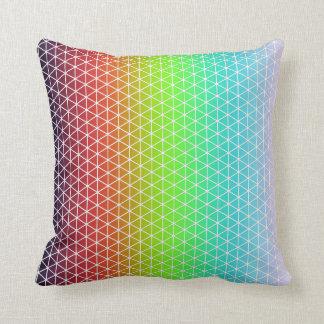 Tessellation geométrico del marco del arco iris cojín decorativo