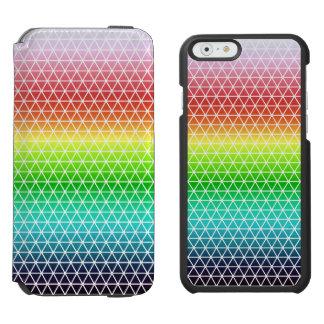 Tessellation geométrico del marco del arco iris funda cartera para iPhone 6 watson