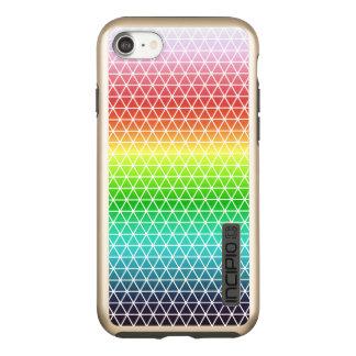 Tessellation geométrico del marco del arco iris funda DualPro shine de incipio para iPhone 7