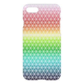 Tessellation geométrico del marco del arco iris funda para iPhone 7