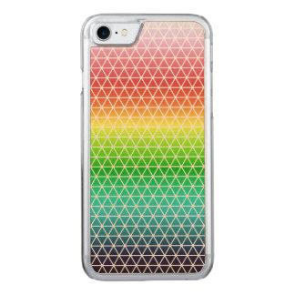 Tessellation geométrico del marco del arco iris funda para iPhone 7 de carved