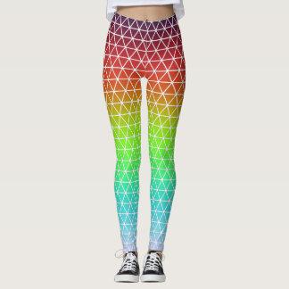 Tessellation geométrico del marco del arco iris leggings