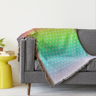 Tessellation geométrico del marco del arco iris manta
