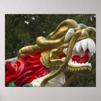 Testaferro chino del dragonboat parque de Stanley Poster