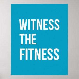 Testigo de la cita de entrenamiento el azul de la póster