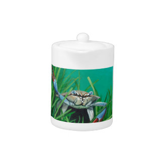 Tetera Ahoy resuelve el cangrejo inferior del mar del