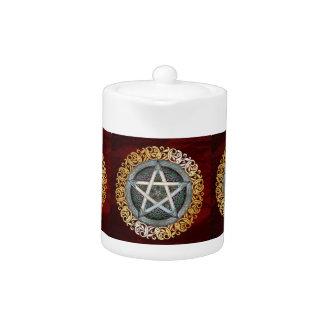 Tetera Altar oculto ritual de la brujería medieval roja