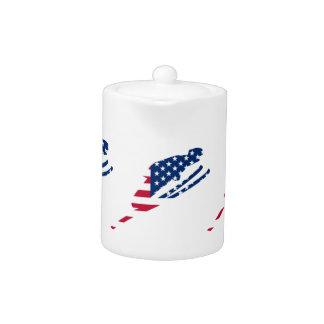 Tetera Bandera de los E.E.U.U. del americano de esquí de