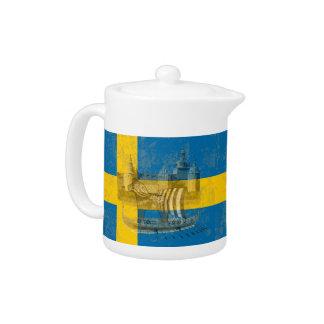 Tetera Bandera y símbolos de Suecia ID159