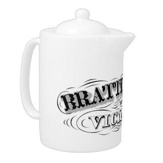 Tetera Brattleboro y pote del té de la vecindad