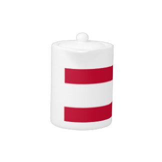 Tetera Buena impresión de la bandera de Dinamarca del