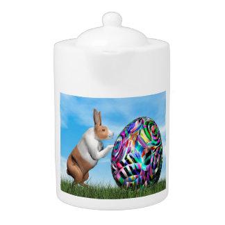 Tetera Conejo que empuja el huevo de Pascua - 3D rinden